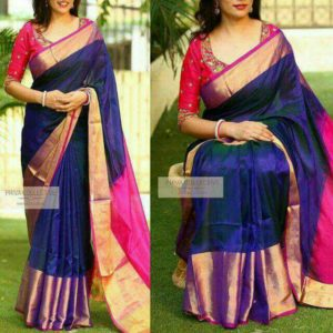 Uppada pure soft silk with big border sarees