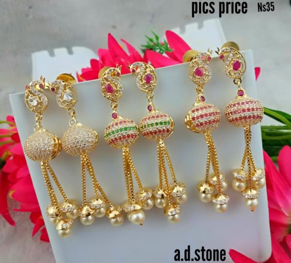 0b6b419e8f 1gm gold earring designs | | Jewellery online store, Antique, CZ ...