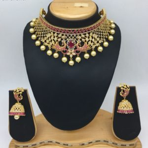 latest cz choker necklace collections in hyderabad