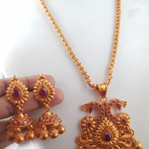 matte chain pendant set