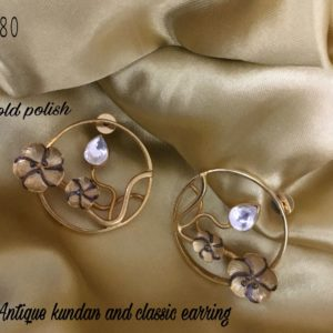 antique kundan and earing collections