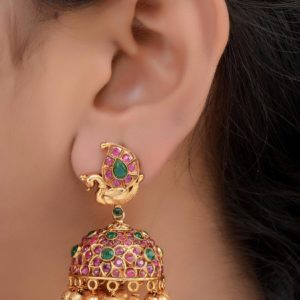 latest 1gm gold matte jhumka in andhrapradesh