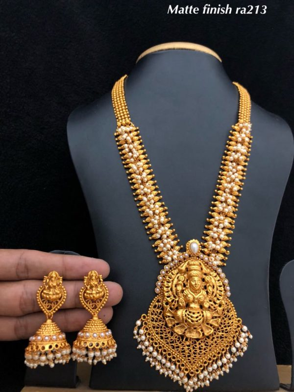 one gram gold temple jewellery designs in hyderabad