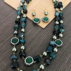 stone bead necklace designs