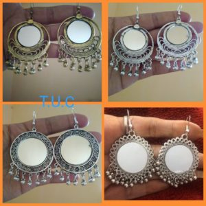Beautiful mirror earrings