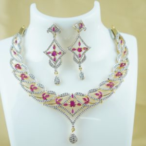 cz stone necklace designs
