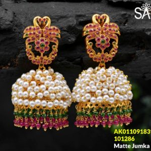 one gram gold matte jhumka
