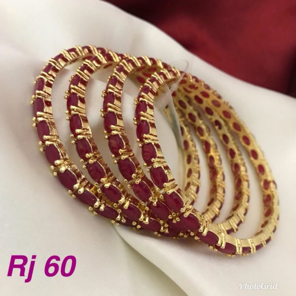 Latest cute ruby stone bangles