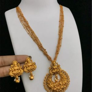 One Gram Gold Necklace Short And Long Haram Designs Jewellery