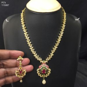 latest cz necklace designs