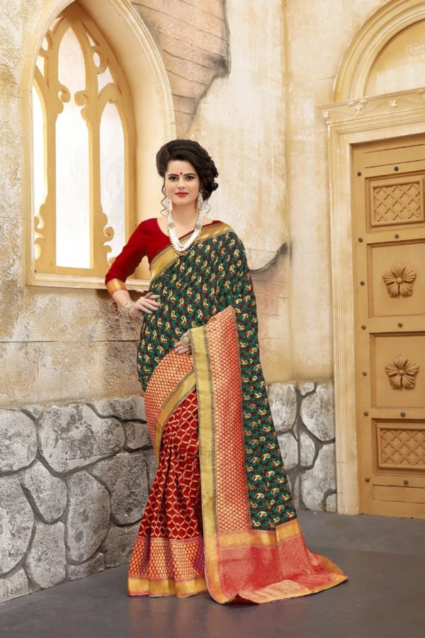 London beauty present banarasi silk saree