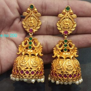 one gram gold earrings design