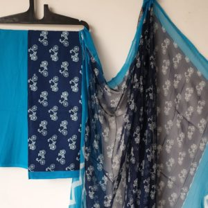 Cotton suit set with chiffon dupatta in andhrapradesh