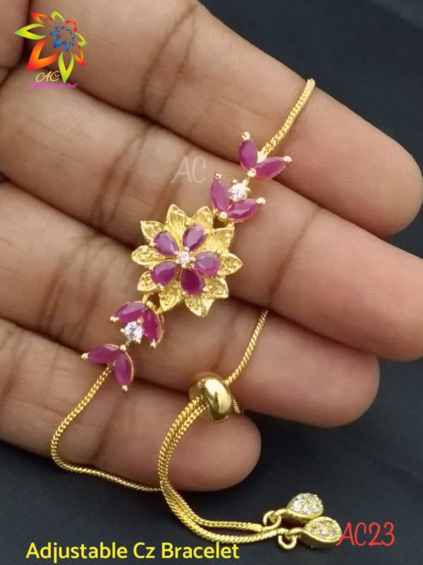 latest one gram gold cz bracelets in andhrapradesh