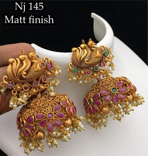 one gram gold earrings collections in nellore