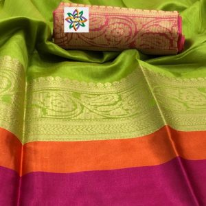khadhi thread with wooven zari saree collectoions