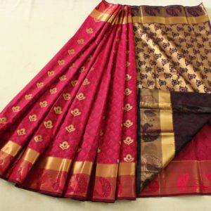 new arrival semi silk saree collections for best price