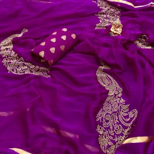 new arrival chiffon saree collections for wholesale price